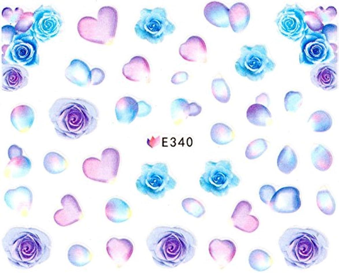 厳しい取り消す厚いネイルシール 薔薇 水彩 和風 花 フラワー (07-T29)