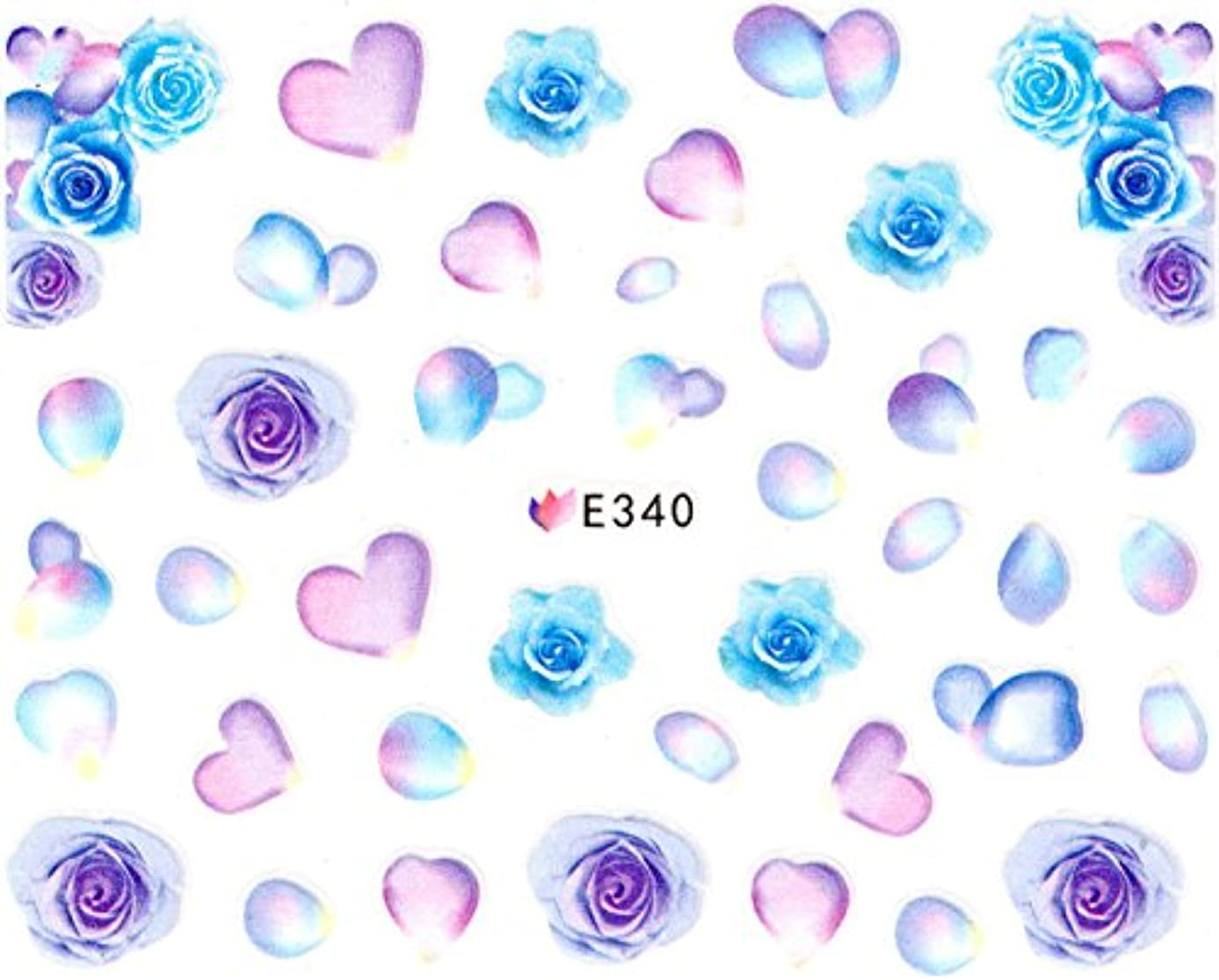 機動化学者拘束するネイルシール 薔薇 水彩 和風 花 フラワー (07-T29)
