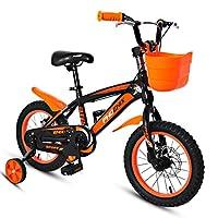 子供の自転車3-5歳の自転車の男の子14インチキッズマウンテンバイクブルーイエロー (Color : Black Orange)