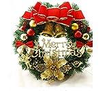 ANPHSIN-クリスマスリース30cm 選べる4種類 クリスマス飾り玄関 ドア 窓 インテリアの飾り レッドクリスマスベル 華やか 可愛い