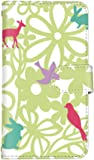 smart iPhone8Plus iPhone 8 Plus 國內生產 卡片 智能手機殼 手冊式 Apple 蘋果 蘋果 蘋果 Eight Plus 【1-綠色】 花和動物輪廓 q0004-f0390
