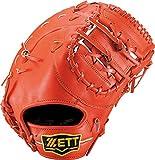 ZETT(ゼット) 野球 軟式 ファースト ミット ウイニングロード (左手用) BRFB33713 ディープオレンジ