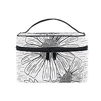 Anmumi 化粧ポーチ メイクポーチ ボックス 花柄 収納ケース 仕切り 手提げ 大容量 かわいい おしゃれ レディース 女の子 機能的 ポーチ 小物入れ 旅行 出張 プレゼント