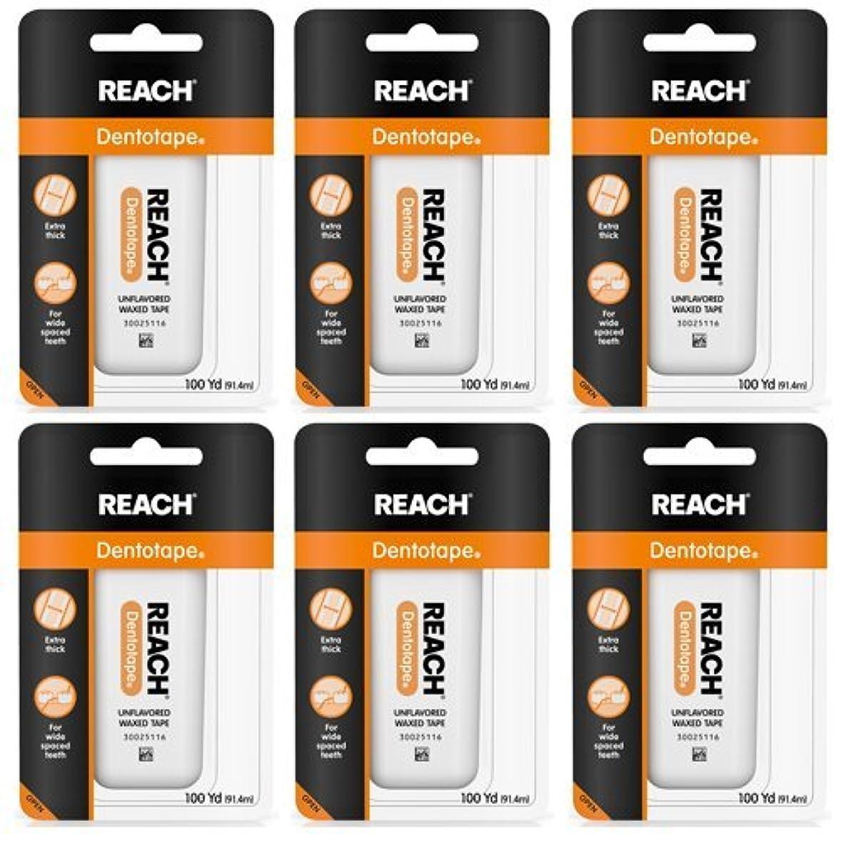 思慮深いインスタンス人口REACH Dentotape Waxed Tape, Unflavored 100 Yards 6 pack (91.4 m) [並行輸入品]