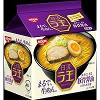 日清 ラ王 醤油豚骨  5食パック×6袋   ヒガシマル袋めん1パック