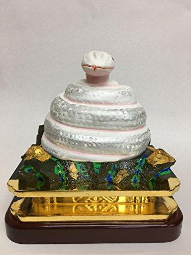 巳様(白蛇)陶器製 3寸