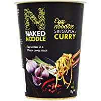 (Naked Noodle (裸の麺)) シンガポールカレーポット78グラム (x4) - Naked Noodle Singapore Curry Pot 78g (Pack of 4) [並行輸入品]
