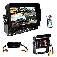 origin トラック対応ドライブレコーダー カメラ1台 20M映像ケーブル1本付き 7インチ 遮光式モニター 12V / 24V兼用 SDカードに簡単録画 4画面同時録画可 画面分割機能 で 4画面 2画面 全画面 の 分割表示 (カメラ1台) mn70dvr-cam1