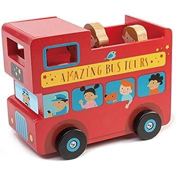 tender leaf toys 木製 ロンドンバス型貯金箱 かわいいイギリスデザインの貯金箱 オモチャ インテリア デザイン 北欧 おもちゃ 男の子 女の子
