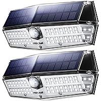 Mpow 66led センサーライト ソーラーライト IP66防水 3つ点灯モード センサー時間30s 人感ライト 屋外照明 18ヶ月間保証 停電防災緊急対策 2019年新品 2個