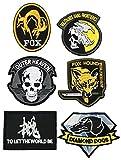 6種セット メタルギア 刺繍 ベルクロ パッチ