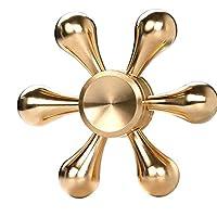 jp-kibou ハンドスピナー 指スピナー Hand Spinner 【進化版】 長時間 スピン 真鍮 高品質 R188 ベアリング (水道ゴールド)