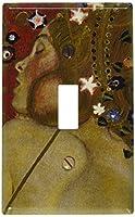 Klimt–Sea Serpents IVスイッチプレート Single Toggle S326-plate 1