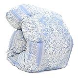 西川 羽毛布団 シングル ハンガリー グース ダウン95% 増量 1.3kg 日本製 DP420 (ブルー)