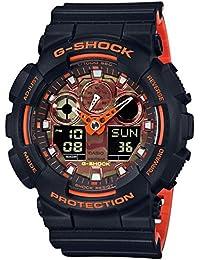 [カシオ]CASIO 腕時計 G-SHOCK ジーショック ブライトオレンジカラー GA-100BR-1AJF メンズ