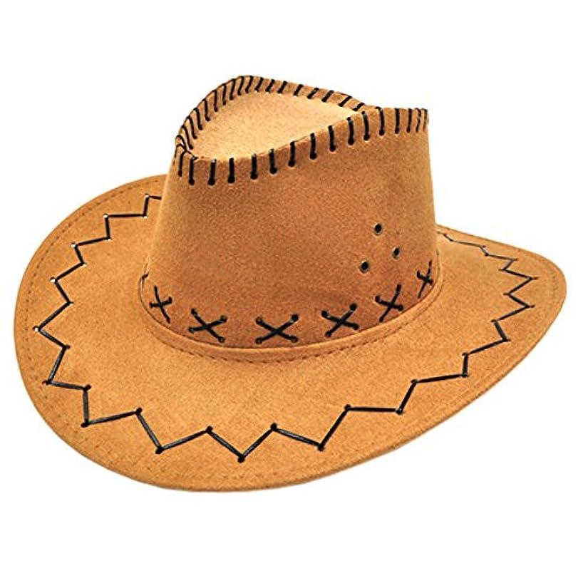 愛郵便番号必要スタイリッシュなBoven帽子カウボーイハットサンハット屋外帽子釣り/ハンティングキャップキャメル