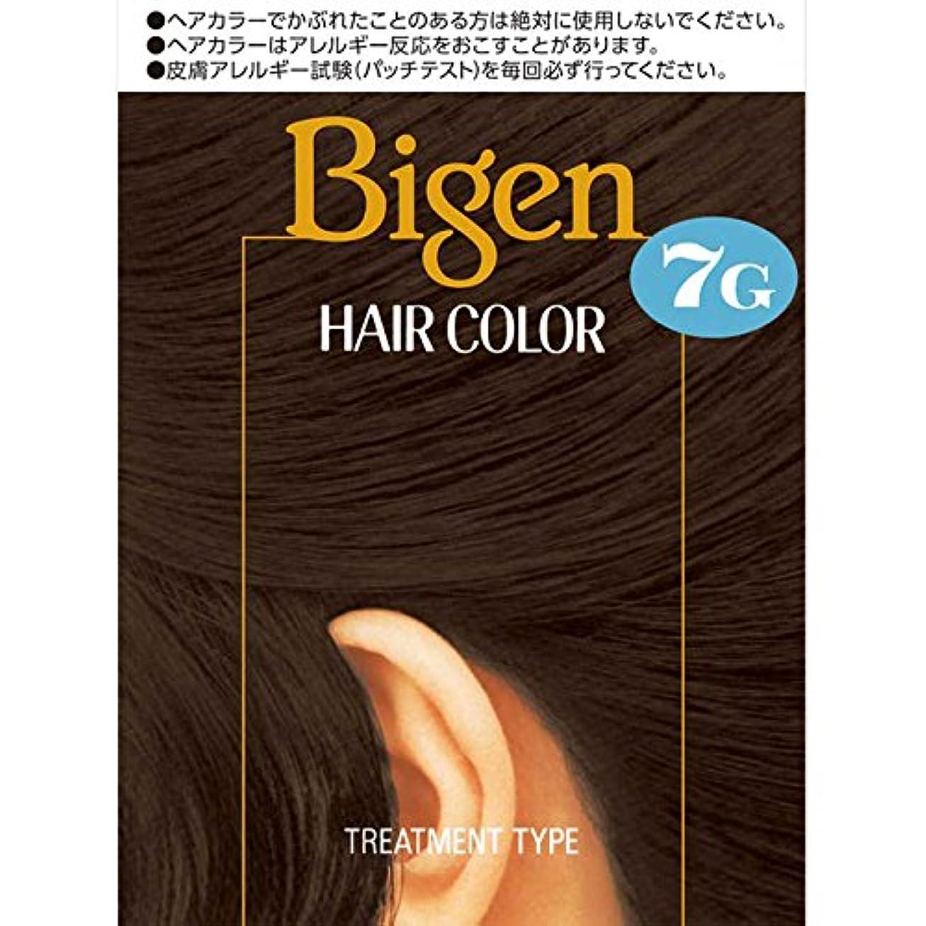 気性免除するジェットホーユー ビゲン ヘアカラー 7G 自然な黒褐色 40ml×2