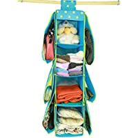 (Blue) - Starsource Non-woven fabrics Purse or Shoe Hanging Closet Organiser Closet Hanging Hag Wardrobe Storage Bag With Four Layer