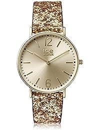 [アイスウォッチ] ICE-WATCH 腕時計 Ladies City Madame Exclusive Gold Glitter Fabric Strap Watch クォーツ 001428 【並行輸入品】