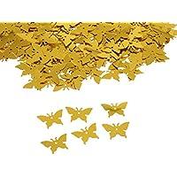 【ノーブランド品】15ミリメートル 輝き ロマンス バタフライ 紙吹雪 誕生日 結婚式 パーティーの装飾 金色