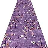 YANZHEN ランナー カーペッコリドーカーペット 滑り止め 低パイル 切断可能 厚さ7mm、 紫の、 複数のサイズ (色 : A, サイズ さいず : 1.4 x 1m)