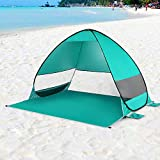 Honeytecs Automatic Pop Up Beach Tent Cabana Portable UPF 50+ Sun Shelter Fishing Hiking Canopy