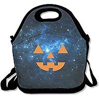 Lantern Pumpkin Halloweenランチバッグ調節可能なストラップ