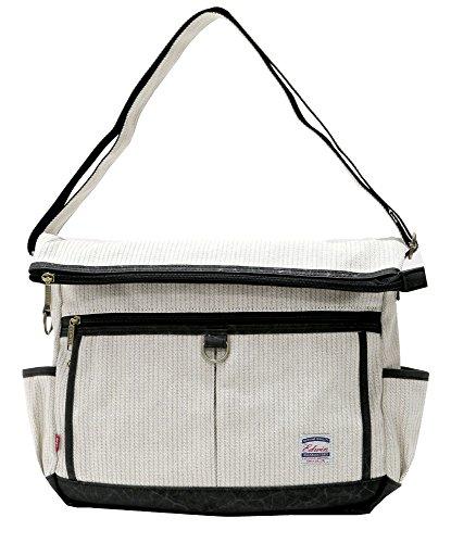(エドウィン) EDWIN ショルダーバッグ メンズ レディース ユニセックス 男女兼用 ボディバッグ バッグ カバン 鞄 斜め掛け カジュアル 2color Free オフホワイト
