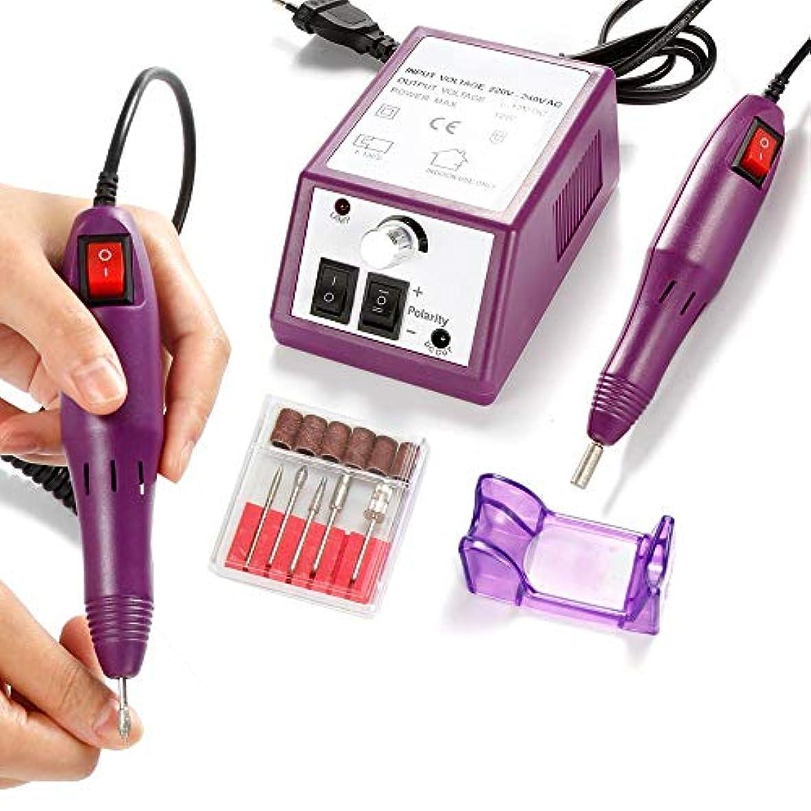 ネイルドリル電気器具用マニキュアジェルキューティクルリムーバーミリングドリルビットセット20000 rpmペディキュアポーランド機ネイルアート
