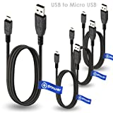 t-power 4 x Pcs for Micro - USB to USBケーブルfor Asus Eee MeMo Pad Smart、LG Google Nexus、SAMSUNG GALAXY 3 Transformer Book ..