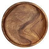 天然木(アカシア材)使用自然の温かみ感じる『アカシア材ラウンドトレーL』【IT】(#9880960) 幅23×奥行23×高さ2.5cm
