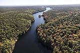 写真 | 2017年10月 メインの森とチェイスの池の空中景 ここや他の多くの場所は湖よりも川のように見えます ニューヨーク1のファインアート写真 66in x 44in H46584_6644_HSM1