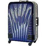 ストッパー付スーツケース TSAロック搭載 フレームタイプ 旅行カバン 鳳凰 Lサイズ Mサイズ MSサイズ (24、中型、M, ブルー)