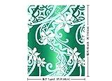 緑のハワイアンファブリック ティアレ・グラデーション柄 fab-2603GN 【ハワイ生地・ハワイアンプリント】