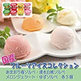 [お中元のし付き] 国産フルーツアイスコレクション 【 アイスクリーム ギフト お取り寄せ プレゼント 詰め合わせ カップアイス セット 高級 3000 】