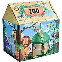 Children 's Playhouse、子供YuiopテントPlayhouse、ポップアップテント、再生テント、Easy to Fold forインドアアウトドア使用の男の子、女の子、赤ちゃん、子供用、幼児、ブルー、グリーン、レッド、ピンク 92x68x104cm グリーン 5261011977