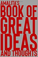 Amalita's Book of Great Ideas and Thoughts: 150 Page Dotted Grid and individually numbered page Notebook with Colour Softcover design. Book format:  6 x 9 in