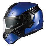 OGKカブト/システムヘルメット/KAZAMI カザミ カラー:フラットブルー/ブラック サイズ:L
