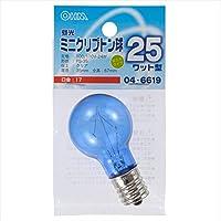 オーム電機 昼光ミニクリプトン球PS35 E17 25W型クリア 04-6619