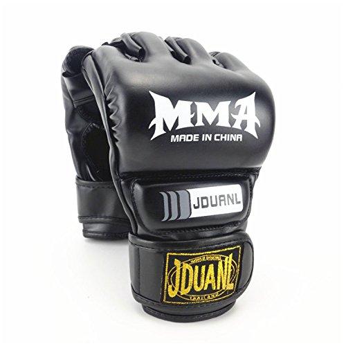 h.effect (エイチエフェクト) MMA 総合格闘技 グローブ ハーフフィンガー ボクシング キックボクシング トレーニング フィットネス メンズ レディース レザー 黒 ブラック