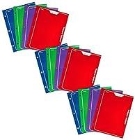 MeadトラッパーKeeper 2-pocketポートフォリオ、12x 9.38X 12のインチ、アソートカラー、パック12