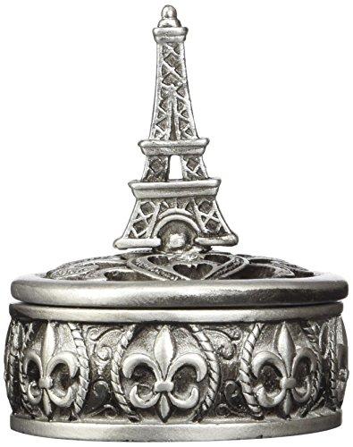Fashioncraft 8654 Eiffel Tower Design Curio Box Favors, Gray