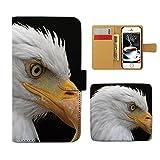 Tiara iPhone X iPhoneX スマホケース 手帳型 アニマル 動物 鷹 コンドル 鳥 手帳ケース カバー [E025204_02]
