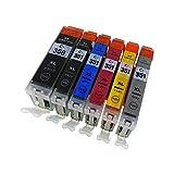 キャノン(Canon) BCI351XL(BK/C/M/Y/GY)+BCI350XLBK 【6色マルチパック/大容量】高品質互換インクカートリッジ (ICチップ、残量表示機能付き/商品1年保証) BCI351XL+350XL/6MP【morishop製】