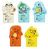 Tonymoly Pokemon Sheet Mask pack(3 Sheets) トニーモリ― ポケットモンスター マスクパック 3枚入り (All-In-One (5 Sheets))