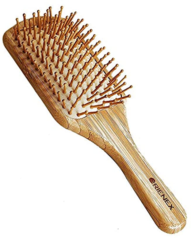 耕す大気起点Orienex ヘアブラシ 木製櫛 美髪ケア 頭皮&肩&顔マッサージ(大)