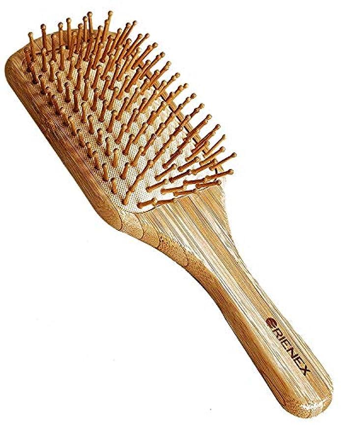 市場より平らなコウモリOrienex ヘアブラシ 木製櫛 美髪ケア 頭皮&肩&顔マッサージ(大)