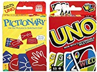 Uno and Pictionary カードゲーム 2枚パック