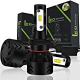 Kit Led Headlight Bulb H7 6000K Philips LED Chip 100W 9600LM 9-36V IP68 Fan Cooling Mode All in One