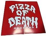 PIZZA OF DEATH(ピザオブデス)ステッカー レッド×ホワイト